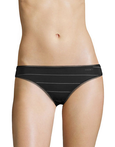 Dkny Litewear Bikini Briefs-BLACK STRIPE-Large