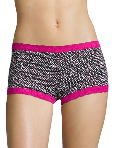 Maidenform Lace Trim Boy Shorts-PINK-5
