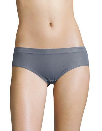 Dkny Mesh Bikini Panties-GREY-Large