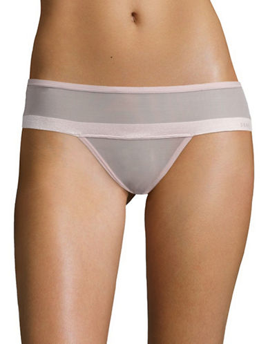 Dkny Mesh Bikini Panty-LIGHT PINK-Medium