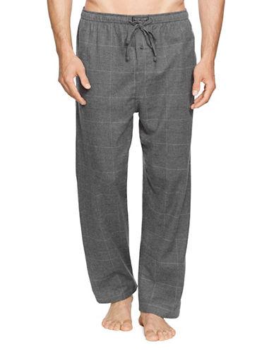 Polo Ralph Lauren Plaid Flannel Pyjama Pants-GREY-Medium 89646445_GREY_Medium