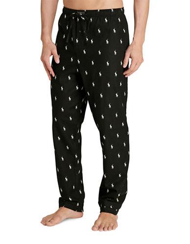 Polo Ralph Lauren Flannel Pyjama Pants-BLACK-Medium 88749043_BLACK_Medium