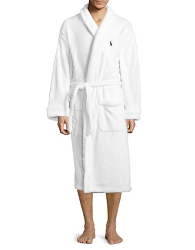 Polo Ralph Lauren Self-Tie Robe-WHITE-One Size