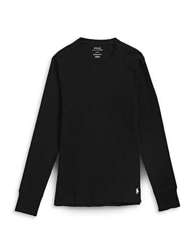 Polo Ralph Lauren Long John Top-BLACK-Small