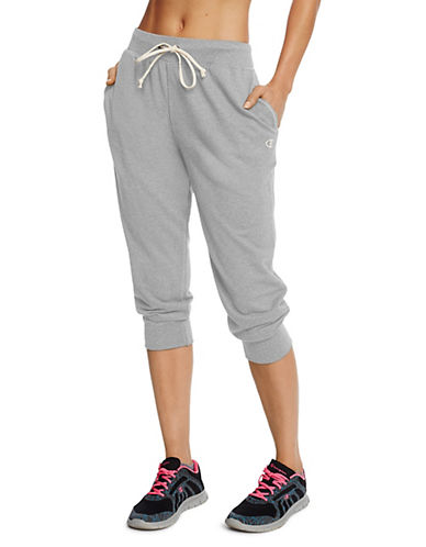 Champion French Terry Capri Pants-GREY-Medium 90026468_GREY_Medium
