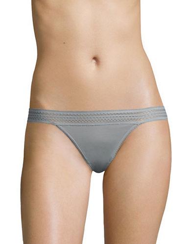 Dkny Classic Lace Trim Bikini Briefs-MID GREY-X-Large