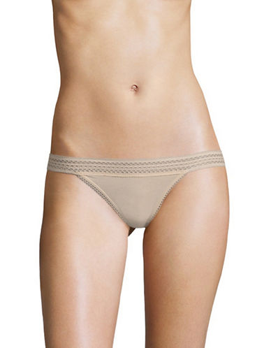 Dkny Classic Lace Trim Bikini Briefs-CASHMERE-Large