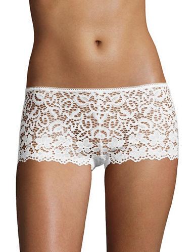 Dkny Lace Boy Shorts-POPLIN WHITE-Small