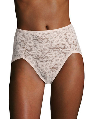 Bali Lace and Smooth Briefs-ROSEWOOD-X-Large