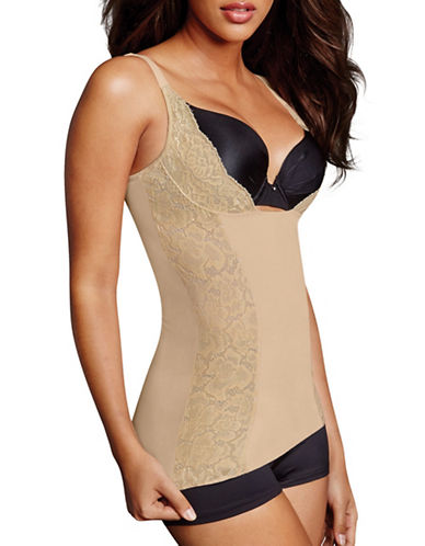 Maidenform Firm Foundations WYOB Torsette-BEIGE-X-Large