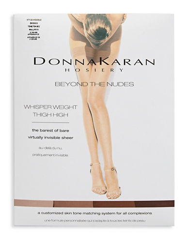 Donna Karan Sheer Thigh High-BEIGE-Medium