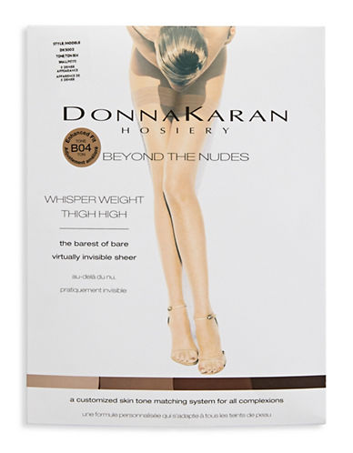 Donna Karan Sheer Thigh High-BROWN-Tall