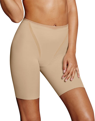 Maidenform Firm Foundations Thigh Slimmer-BEIGE-Small
