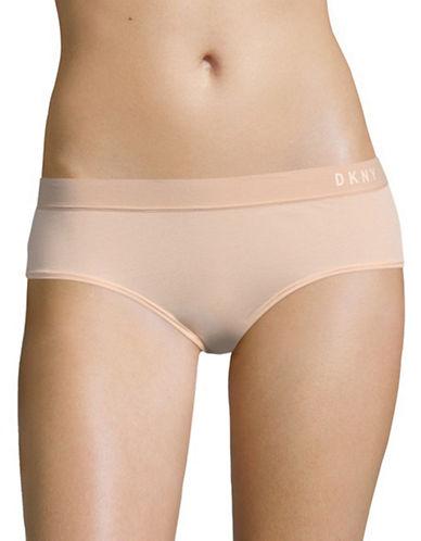 Dkny Classic Boy Shorts-BLUSH/DUNE-X-Large