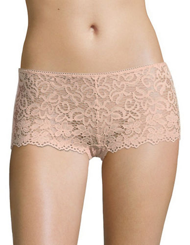 Dkny Lace Boy Shorts-BLUSH-X-Large