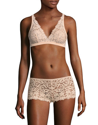 Dkny Classic Lace Bralette-BLUSH-Medium