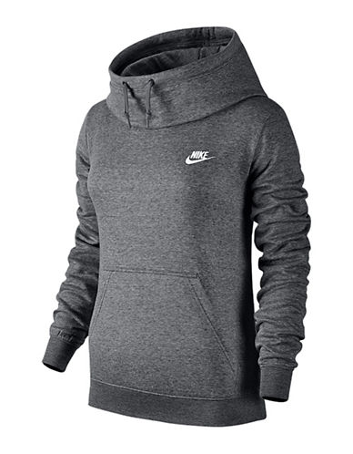 Nike Drawstring Funnel Neck Sweatshirt-GREY-Small 88551647_GREY_Small