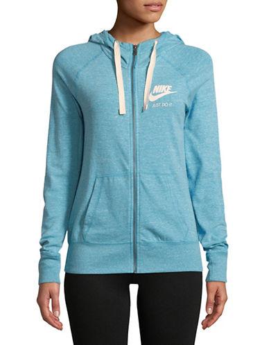 Nike Logo Full-Zip Hoodie-SAIL BLUE-X-Small