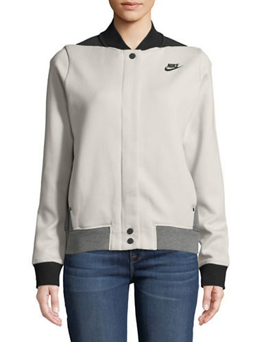 Nike Colourblocked Front Snap Jacket-MULTI-Large