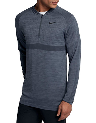 Nike Long Sleeve Dry Golf Top-BLUE/BLACK-Medium 89907526_BLUE/BLACK_Medium