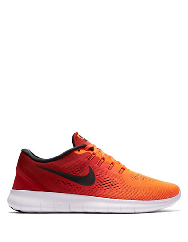 Nike Free Run Knit Sneakers-ORANGE-8 88582876_ORANGE_8