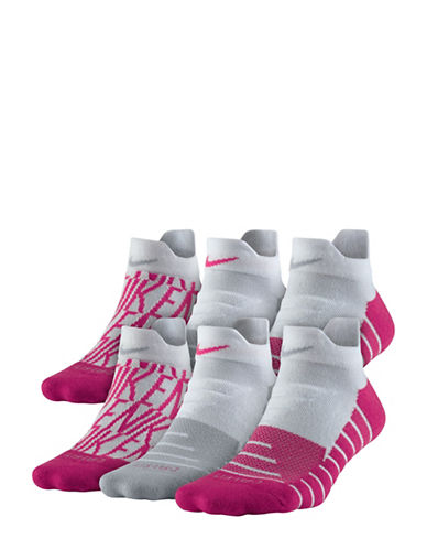 Nike Three-Pack Dry Cushion GFX Low Training Socks-MULTI-Medium