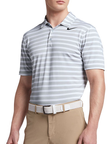 Nike Stripe Golf Polo-GREY-XX-Large