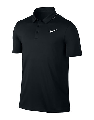 Nike Solid Golf Polo-BLACK-Medium 89108866_BLACK_Medium