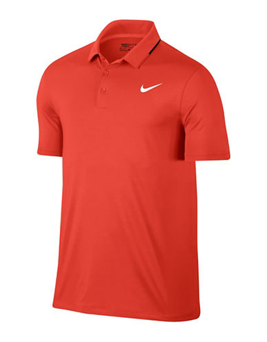Nike Solid Golf Polo-ORANGE-Large