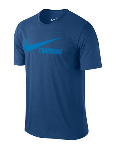 Nike Training Swoosh Tee-BLUE-Large 89692684_BLUE_Large