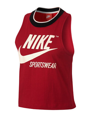 Nike Sportswear Cropped Tank-RED-Medium 89413994_RED_Medium
