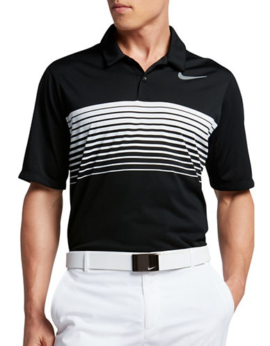 Nike Mobility Speed Striped Golf Polo-BLACK-Large 89108895_BLACK_Large
