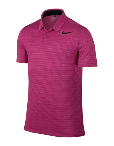 Nike Mobility Jacquard Golf Polo-PINK-X-Large