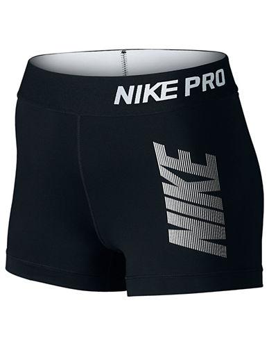 9e67f0ea5035bb ... UPC 091207491210 product image for Nike Pro Cool Logo Shorts -BLACK-X-Small
