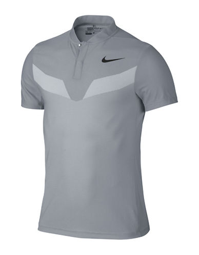 Nike Zonal Cooling MM Fly Blade Golf Polo-GREY-X-Large