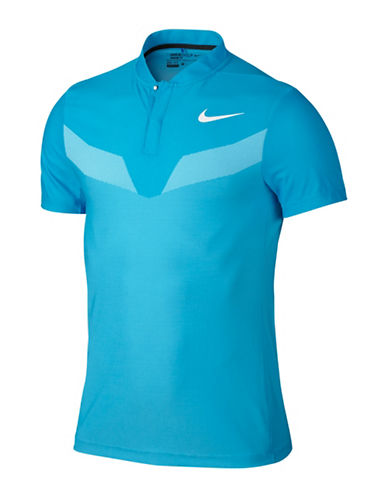 Nike Zonal Cooling MM Fly Blade Golf Polo-BLUE-XX-Large
