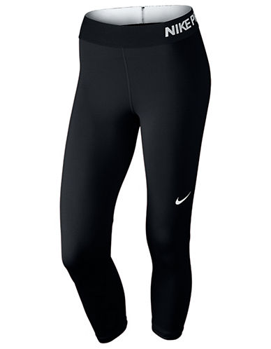 Nike Pro Cool Training Capris-GREY-X-Small