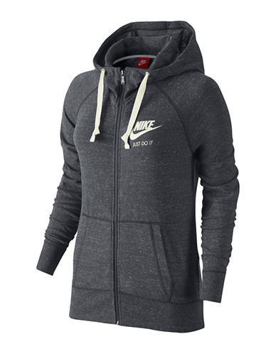 Nike Gym Vintage Hoodie-CARBON-Medium