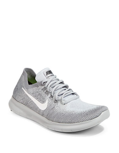 Nike Free RN Flyknit Running Shoes-GREY-9.5