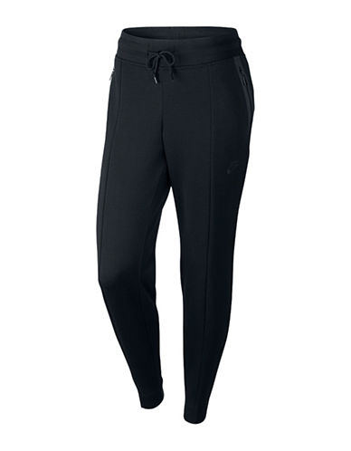 Nike Tapered Jogging Pants-BLACK-Medium 88618600_BLACK_Medium