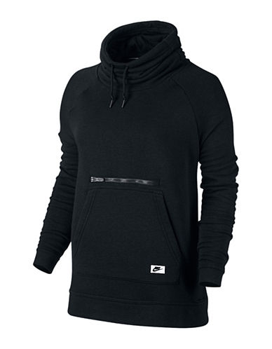 Nike Modern Drawstring Funnel Sweater-BLACK-X-Large 88565230_BLACK_X-Large