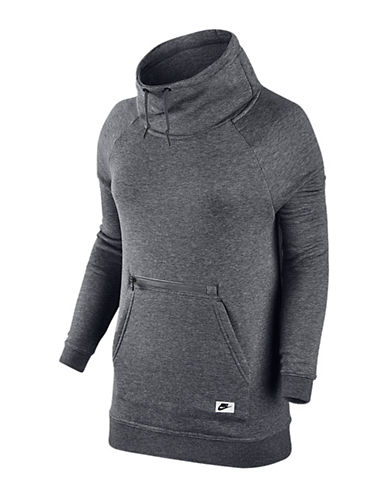 Nike Modern Drawstring Funnel Sweater-GREY-Large 88547904_GREY_Large