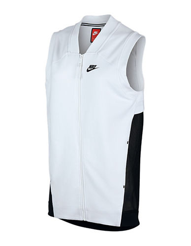 Nike Tech Fleece Mesh Cocoon Vest-WHITE-Medium 88338682_WHITE_Medium