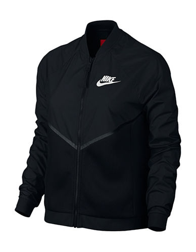 Nike Tech Hypermesh Bomber Jacket-BLACK-X-Small 88339000_BLACK_X-Small