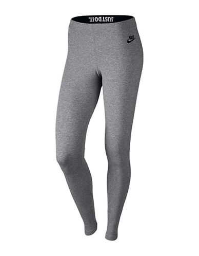 Nike Leg a See Leggings-GREY-Medium