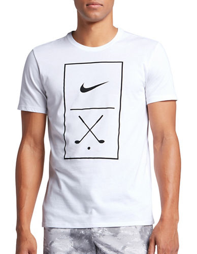 Nike Graphic-Print Golf T-Shirt-WHITE-Large