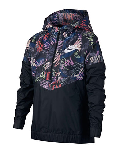 Nike Graphic Windrunner Jacket-GREY-7-8
