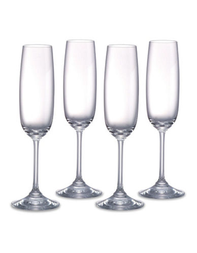 Waterford Wedgwood Vintage Flute Champagne Set of 4-CLEAR-One Size