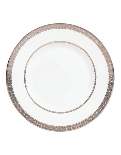 Vera Wang Vera Lace Platinum Accent Plate-WHITE-One Size