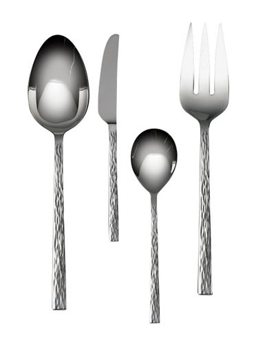 Vera Wang Hammered Four-Piece Hostess Set-STAINLESS STEEL-4pc